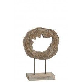 Escultura decorativa en madera.