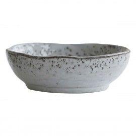 Bowl rústico gris azulado.