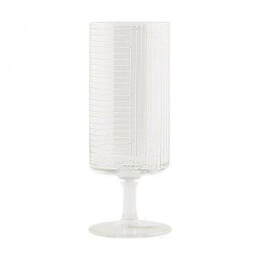 Copa de cristal tallada.
