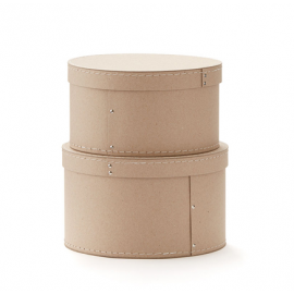 Set 2 cajas redondas.