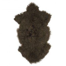 Alfombra de pelo de Mongolia. 90x60
