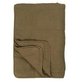 Colcha de algodón verde.