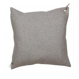 Cojín efecto lana gris.