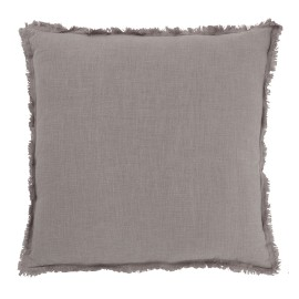 Cojín efecto lino gris.