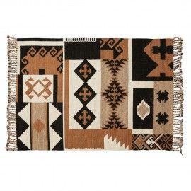 GRENADE Alfombra lana algodón 160x230 multicolor
