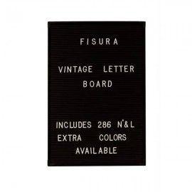 Tablero letras vintage negro.