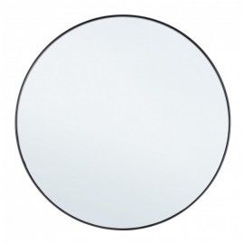 Espejo redondo negro. ø70 cm.