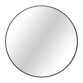 Espejo redondo metal negro 80x80cm