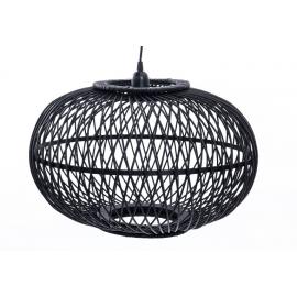 Lámpara de techo de bambú negra