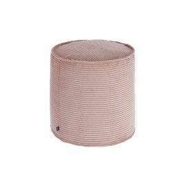 Puf Zina pana rosa pequeño Ø 45 cm