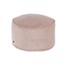 Puf Zina pana rosa grande Ø 60 cm