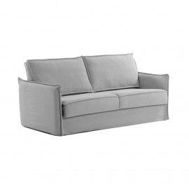 Sofá cama Samsa 140 cm poliuretano gris