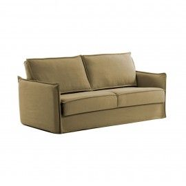 Sofá cama Samsa 140 cm poliuretano marrón