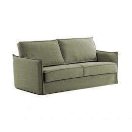 Sofá cama Samsa 140 cm poliuretano verde