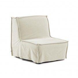 Sofá cama Lyanna 90 cm blanco