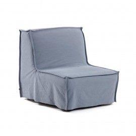 Sofá cama Lyanna 90 cm azul