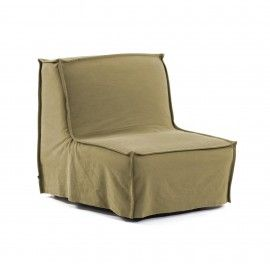 Sofá cama Lyanna 90 cm marrón