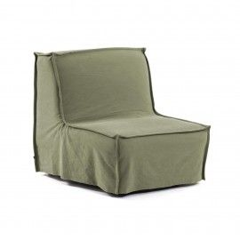 Sofá cama Lyanna 90 cm verde