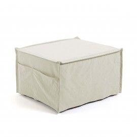Puf cama Lizzie 70 x 60 (180) cm blanco