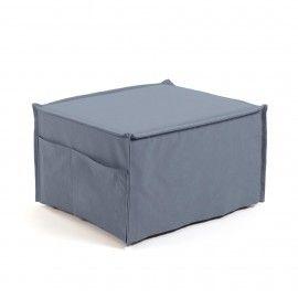 Puf cama Lizzie 70 x 60 (180) cm azul