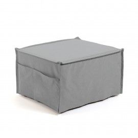 Puf cama Lizzie 70 x 60 (180) cm gris