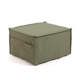 Puf cama Lizzie 70 x 60 (180) cm verde