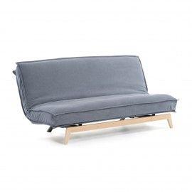Sofá cama Eveline azul estructura madera