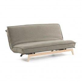 Sofá cama Eveline beige estructura madera