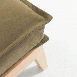 Sofá cama Eveline marrón estructura madera