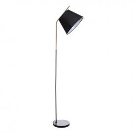 Lámpara de pie en metal.