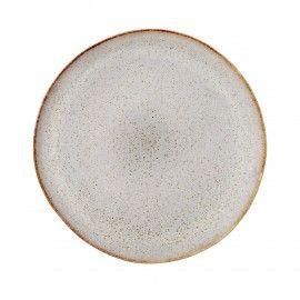 Plato de cerámica color piedra. D:28.5cm