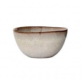 Bowl de cerámica punteada color piedra. D:15x8cm