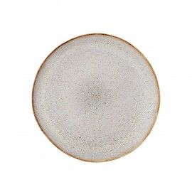 Plato de cerámica color piedra. D:22cm.