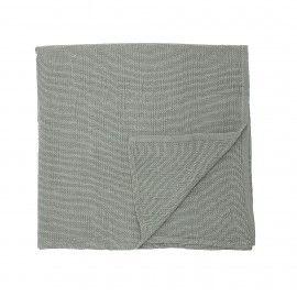 Mantel verde de algodón. D:320x140cm