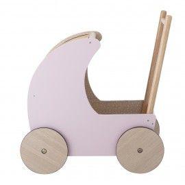 Cochecito de juguete color rosa.D:8x16cm