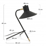 NEIMANN Lámpara de sobremesa metal negro