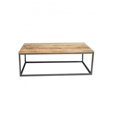 Mesa centro hierro/mango. 120x63,5x40 cm.
