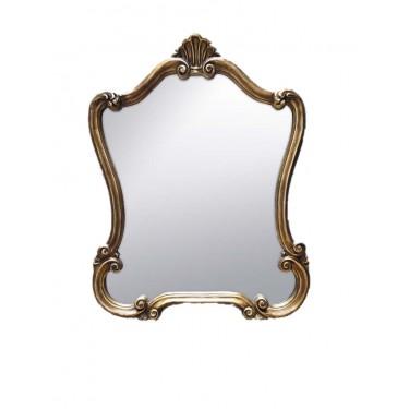 Espejo vintage dorado.