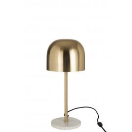 Lámpara de mesa dorada/mármol.