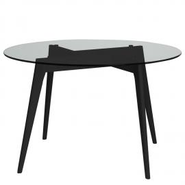 MESA REDONDA JANIS EN NEGRO 120 X 120 X 76 CM