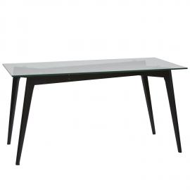 MESA RECTANGULAR JANIS EN COLOR NEGRO 160 X 90 X 76 CM