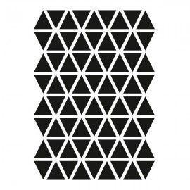 Vinilo de triángulos negros.