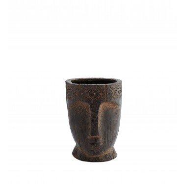 Macetero de cerámica rostro.