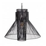 Lámpara techo negro metal