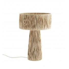 Lámpara de mesa de rafia