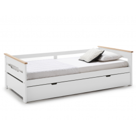 CAMA NIDO EN COLOR BLANCO/NATURAL C/SMA 199 X 105 X 62 CM