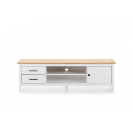 MUEBLE TV MIRANDA EN COLOR BLANCO Y MADERA 158 X 40 X 47 CM