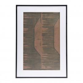 Lámina abstracta en marrón y teja.