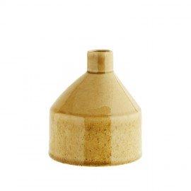 Jarrón de cerámica mostaza.