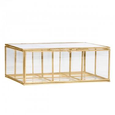 Caja de cristal con compartimentos